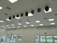 מערכת הגברה מולטימידיה ותאורה באולם משמר השבעה