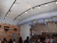"""התקנת מערכת שמע וסאונד למסעדת """"החומוס של טחינה"""" סניף תל אביב"""