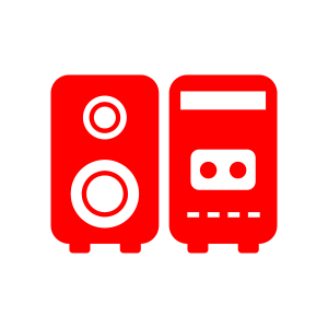 אייקון מערכת מוזיקה לעסקים