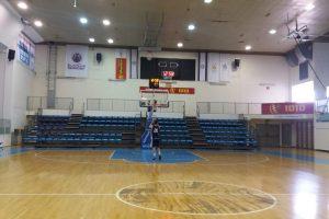 מערכת הגברה מקצועית לאולם ספורט כדור סל